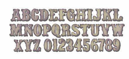 Fustella Alfabeto/Numeri  H 3,18 Bigz XL
