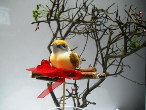 Pick Uccellini x 6 con cuore cm. 16 Articolo per San Valentino - Sconti per Fioristi e Aziende