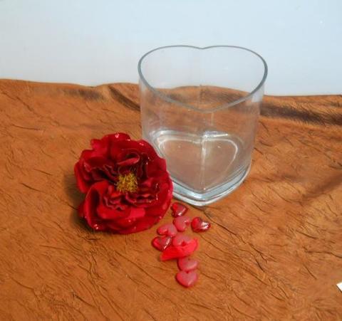 Cuore in Vetro H 15 cm. 15 Articolo per San Valentino - Sconti per Fioristi e Aziende