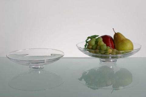 Fruttiera in vetro  dm. 19,5 modello Acqua