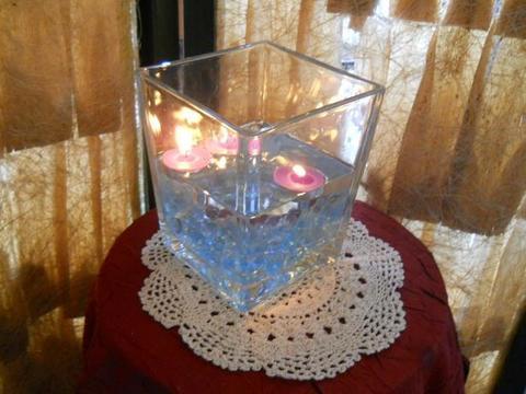 Vaso   vetro korg cm. 14 H 17