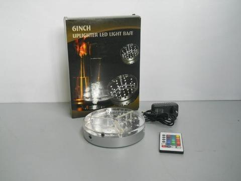 LED Light Base Ricaricabile   Ø 15 cm. con telecomando