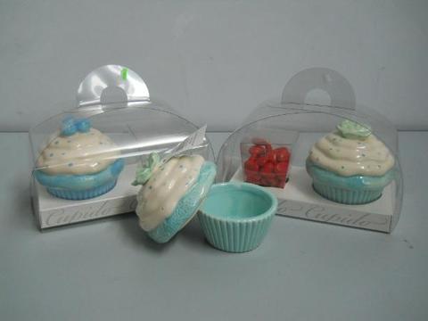 Cupcake Ceramica con tortina in PVC trasparente