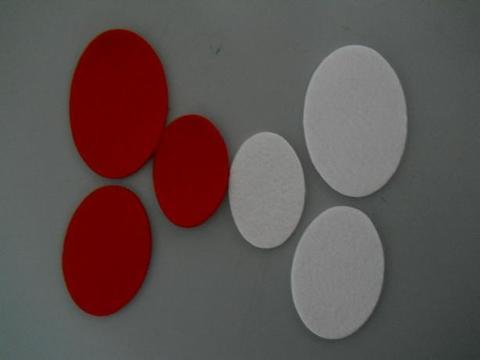 Ovali in feltro Conf. x 12 in 3 Misure - Sconti per Fioristi e Aziende
