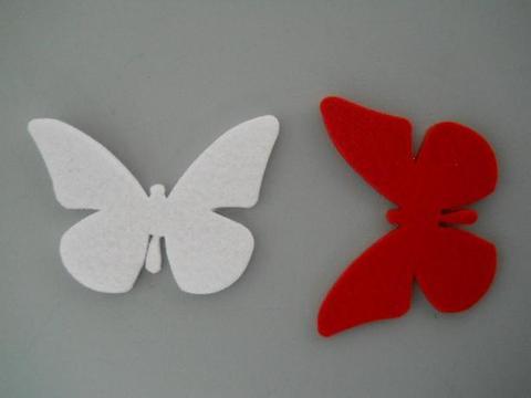 Farfalle x 10 in feltro  cm. 6 x 7 Conf. mista