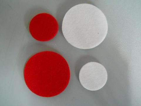Dischi in feltro x 12