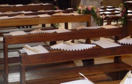 Ventaglio avorio in legno  cm. 23 - Sconti per Fioristi e Aziende