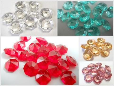 Diamanti ottagonali mm. 18  busta 40 pezzi