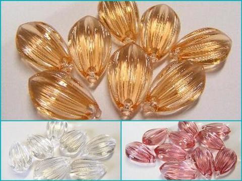 Diamante acrilico a goccia mm 15 x 25  busta 40 pezzi per Fioristi, Wedding