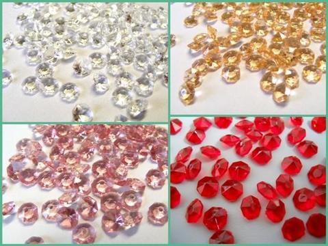 Diamanti ottagonali acrilico mm. 6 busta 40 grammi per Fioristi, Wedding, Bomboniere