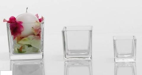 Cubetto   in vetro trasparente cm. 6x6x6