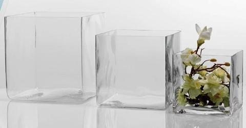 Cubetto   in vetro trasparente cm. 20x20x20