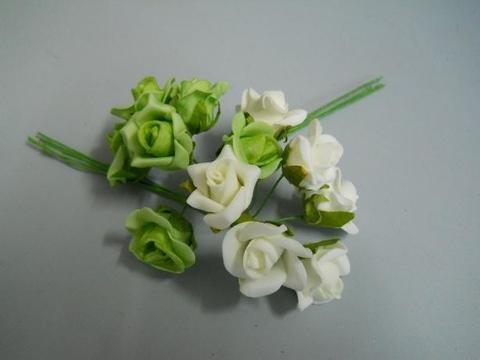 Roselline polifoam Ø 2,5 cm. conf. x 6 - Sconti per Fioristi e Aziende