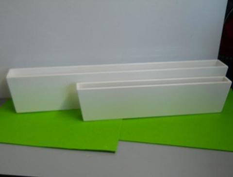 Vaschette  X 2 laccate bianche