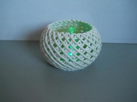 Vaso Ceramica Ø 20 intreccio bianco