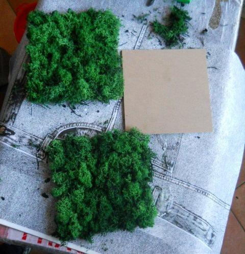 Pannello Moss cm. 20 x 20 Head