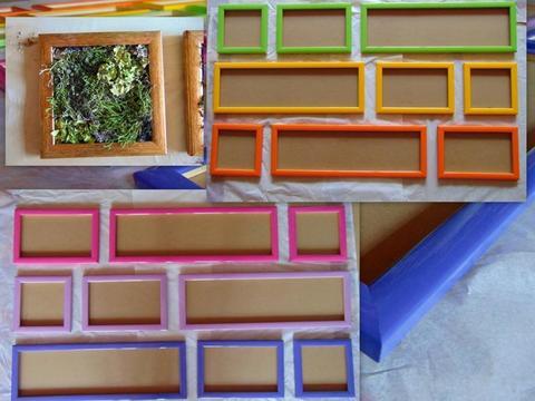 Cornice legno colorato cm. 20x20