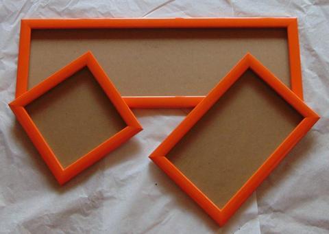 Trittico di Cornici in legno colorato