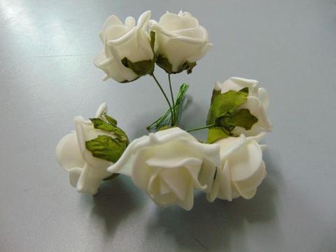 Roselline x 6 polifoam Ø 4 cm.