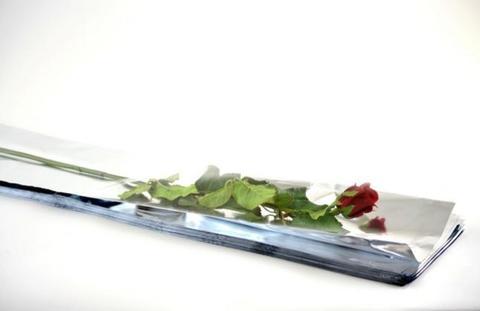 Buste cellofan per rosa cm. 80 H 100  in 2 modelli