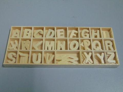 Alfabeto  in legno  cm. 2,5