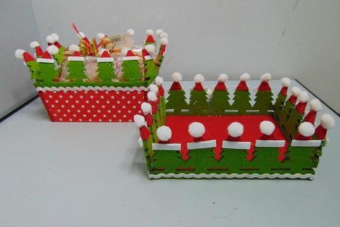 Cestino natalizio in feltro   in due misure