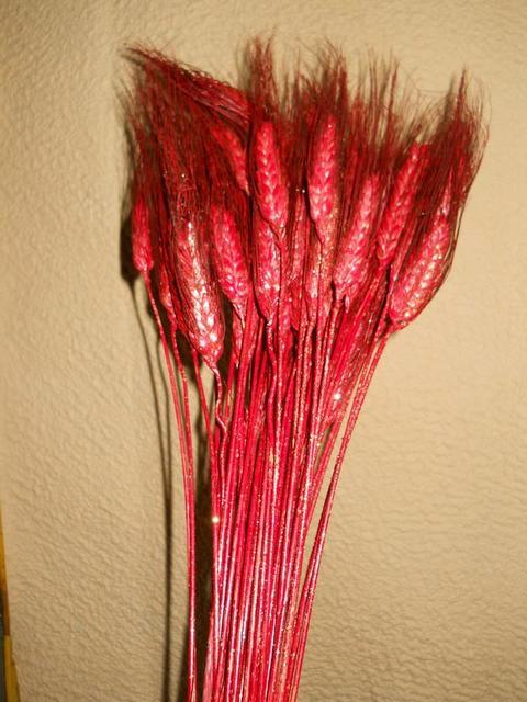 Spighe di Grano x 50 rosso glitterate