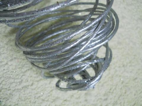 Stringa x 6   argento Glitterata