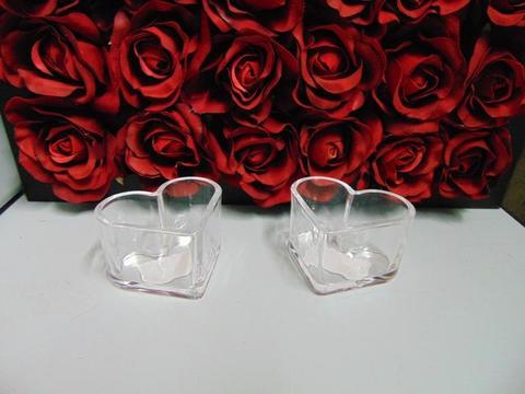 Cuore in vetro H 6 dm.10  Articolo per San Valentino - Sconti per Fioristi e Aziende