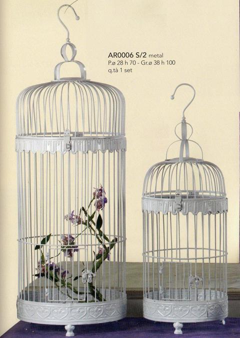 Gabbie Uccelliere x 2 H 100 - H 70 - Sconti per Fioristi e Aziende