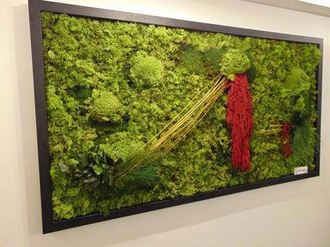Quadro Vegetale Preservato Red Bridge  cm. 150 x 80 - Sconti per Fioristi e Aziende