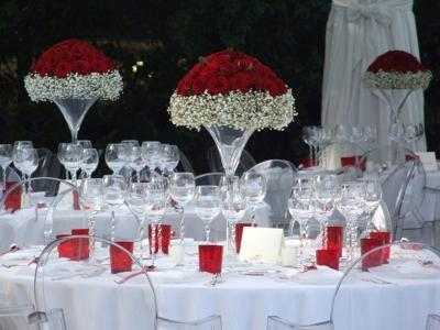 Coppa Martini H 40 dm.25  in vetro per Fioristi e Wedding
