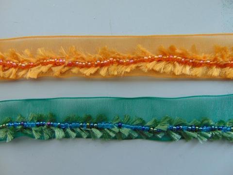 Nastro organza e ciniglia al metro  in due colori