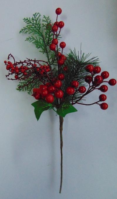 Pick Berry Red alto cm. 37 largo cm.18 - Sconti per Fioristi e Aziende