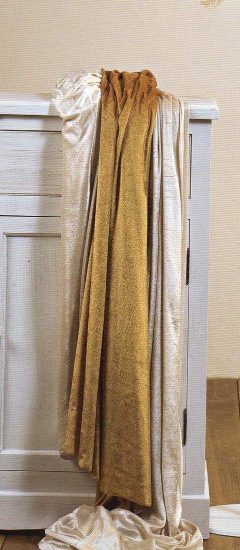 Velluto morbido Oro H 150 x 300