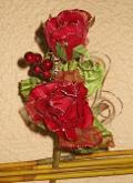 Rose rosse x 2 in velluto  in velluto