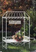Carrello da giardino in ferro bianco H 180 L108 x 56 - Sconti per Fioristi e Aziende
