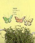 Farfalle x 12 in piuma in 3 colori