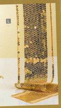 Fascia Centrotavola Oro H 10 x 180  c/paillettes oro - Sconti per Fioristi e Aziende