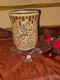 Vaso vetro Oro Crush H 15 x 11 - Sconti per Fioristi e Aziende