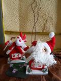 Datario in legno Babbo Natale e Renna  - Sconti per Fioristi e Aziende