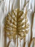 Foglia di Felce Oro H 40 Glitterata