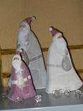 Babbo Natale in ceramica stilizzato in 3 dimensioni