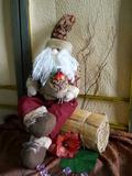 Babbo Natale   H 90 con gambe soft - Sconti per Fioristi e Aziende