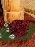 Girocandela Roselline Ruby in poliestere metallizzato - Sconti per Fioristi e Aziende