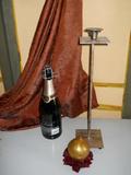 Porta candela in ferro alto cm. 45  una luce