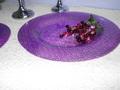 Piatto in vetro Lillac  effetto bagnato in 2 misure