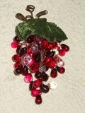 Uva in vetro cm. 15  color rubino per fioristi e wedding