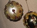 Palline Dm. 80 decorate  Oro Meridian