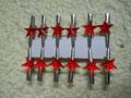 Mollettine stelline x 12    in vetro 4 colori - Sconti per Fioristi e Aziende